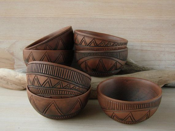 Hand Made Ceramic Eco-Friendly Tea Bowl Hand Carved