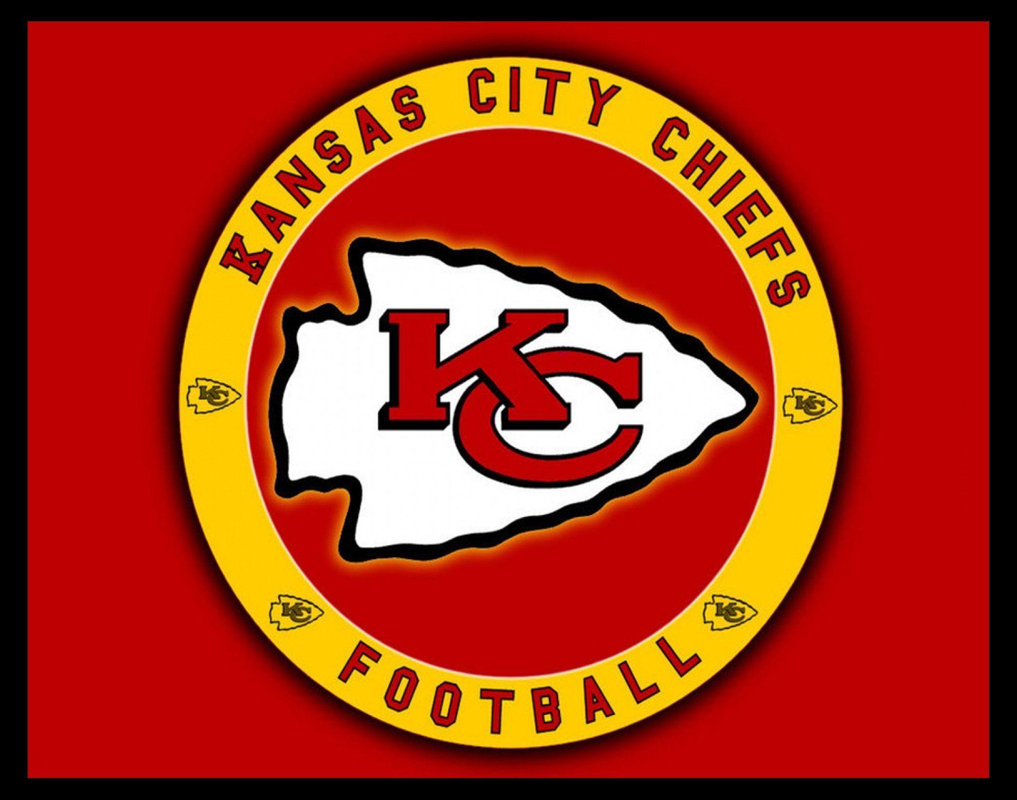 Kansas City Chiefs Arrowhead Logo Poster Gift For Men Women Game Room Wall Art Football Fan Wall Decor Office 8x10 11x14 F