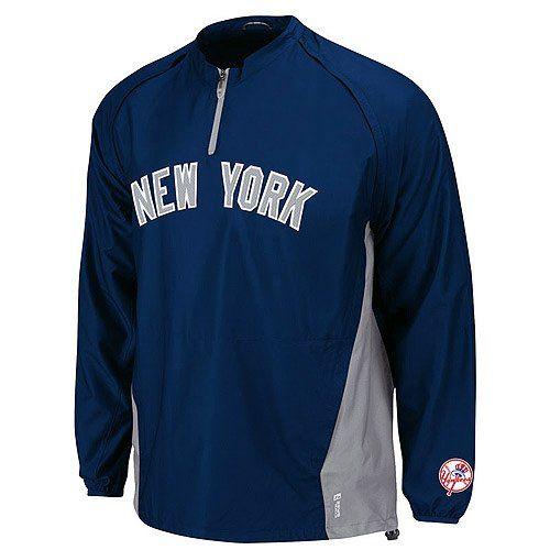 Amazon.com  New York Yankees Majestic Navy Triple Peak Convertible Cool  Base Gamer Jacket  Clothing 62f59192aea