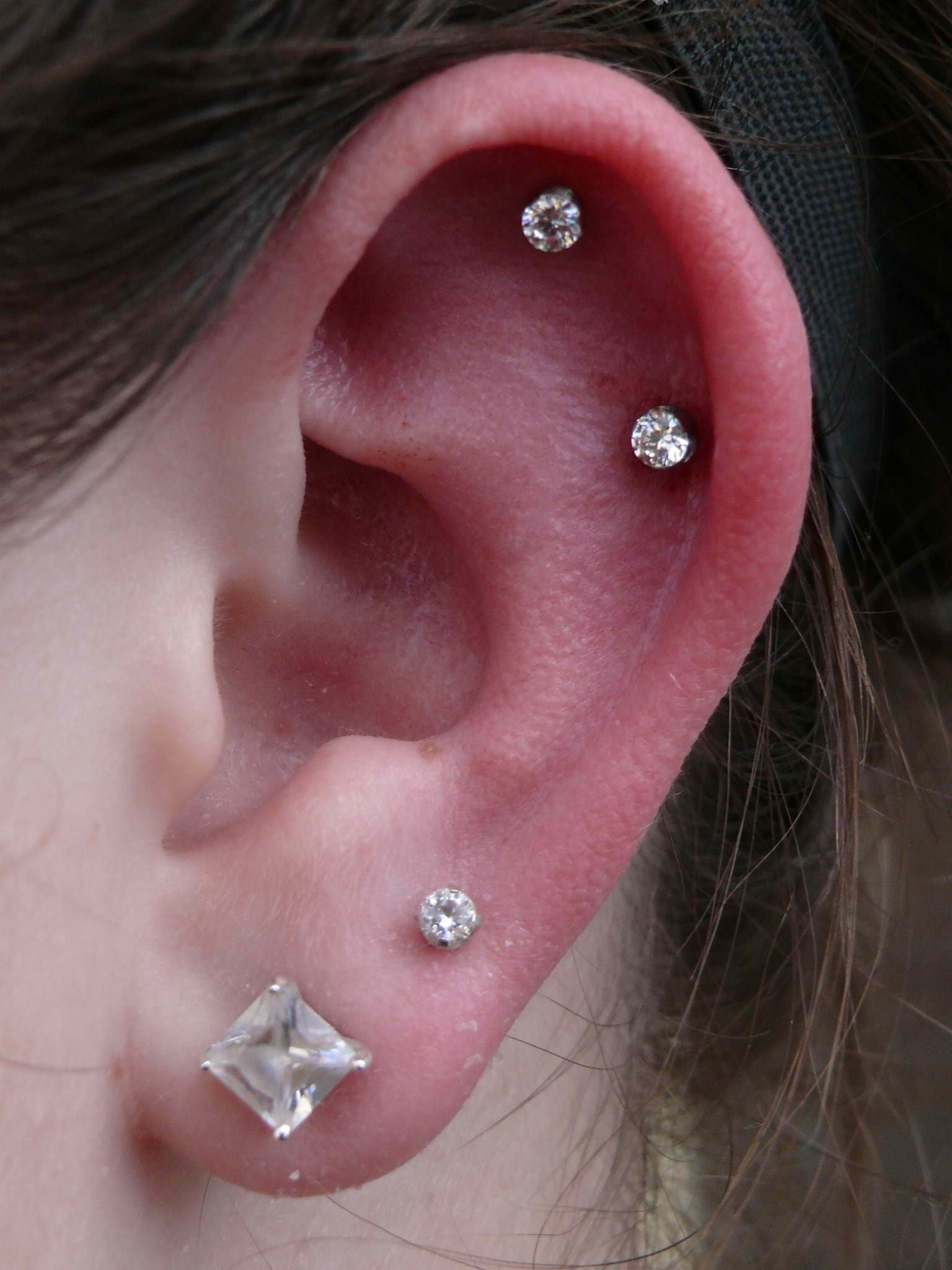 Get My Cartilage Piercedtop On Left Lower On Right Ear