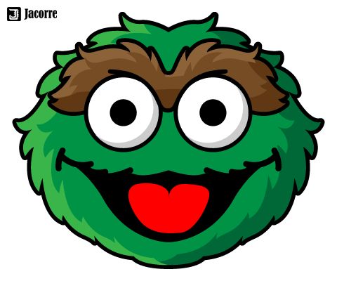 Oscar The Grouch Illustrations Jacorre Sesame Street Crafts Sesame Street Coloring Pages Sesame Street Christmas