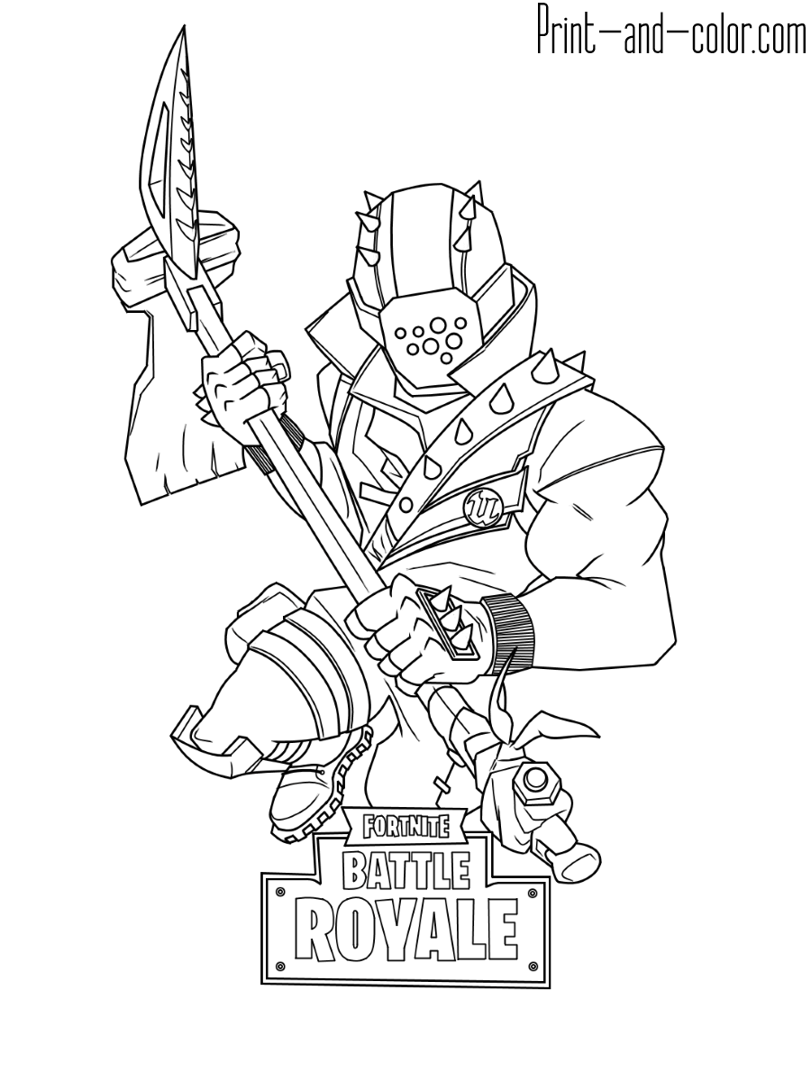 Fortnite coloring pages Print and Color fortnight