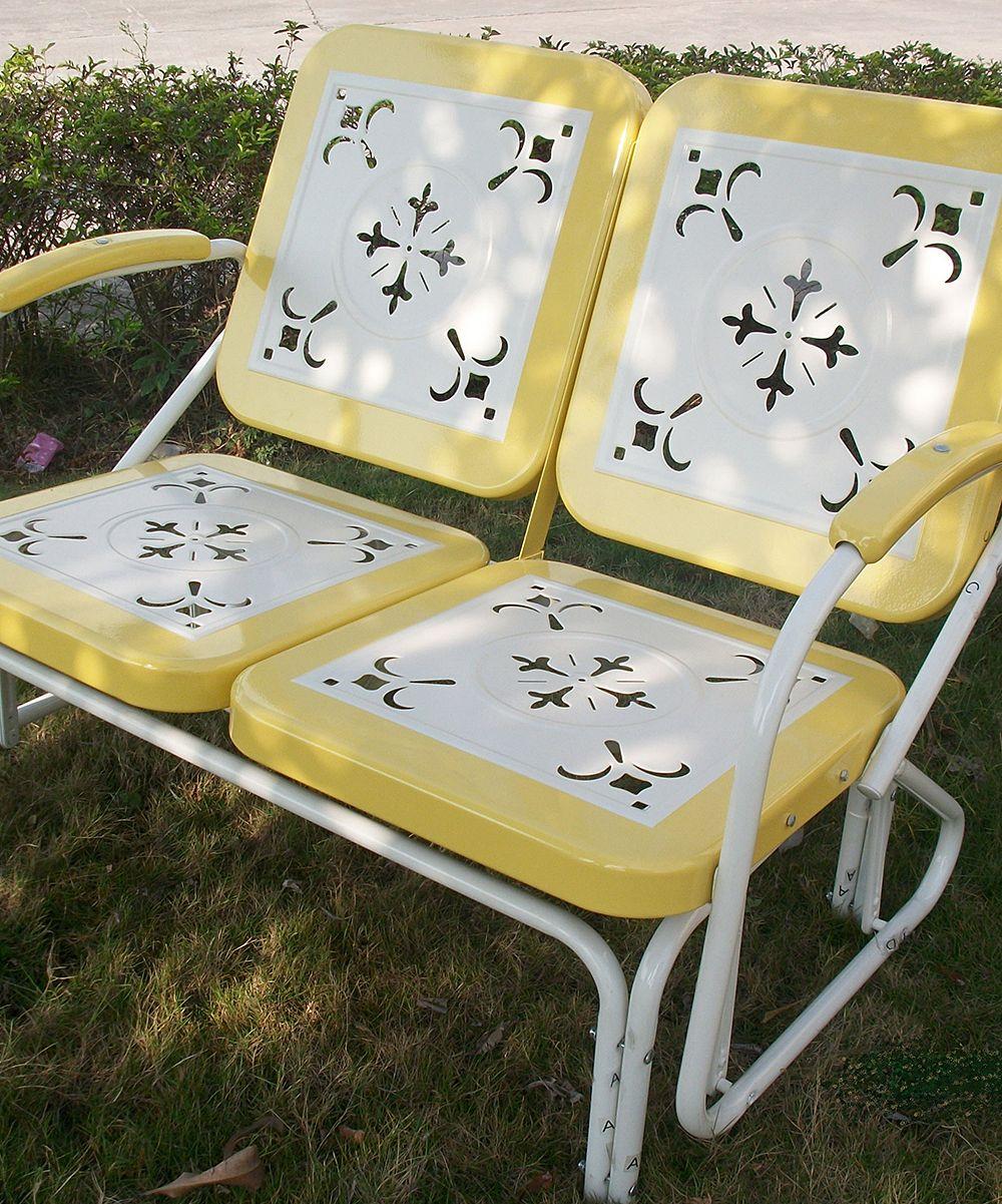 Yellow Retro Glider Zulily Lifestyle Outdoor