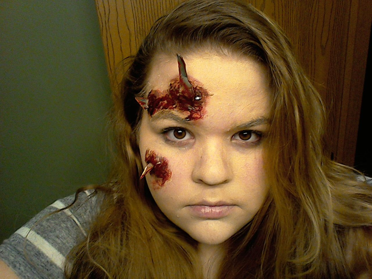 Shattered glass special fx makeup