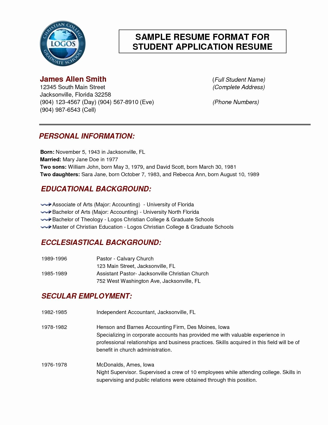 Resume Format Normal Resume Cover Letter Template Cover Letter