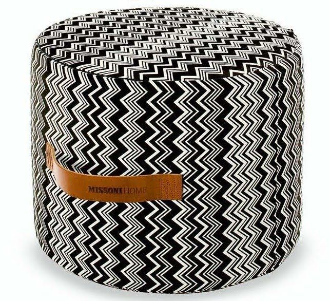 Missoni Home Furniture London: Missoni Home Vevey Cylindrical Pouf