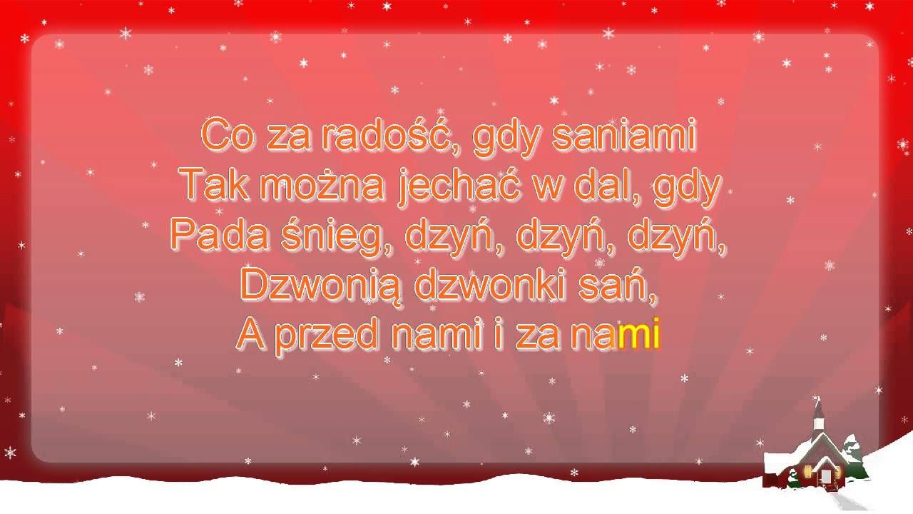 Koledy Dzwonia Dzwonki San Tekst Karaoke Youtube Neon Signs Neon