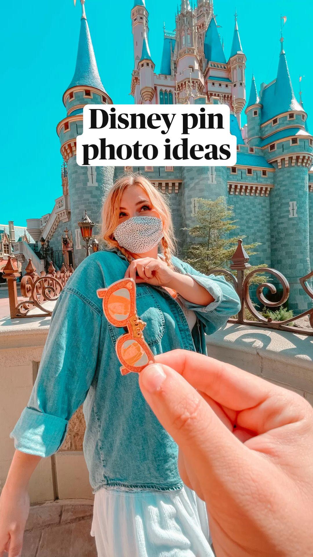 Disney pin  photo ideas Disney World Castle