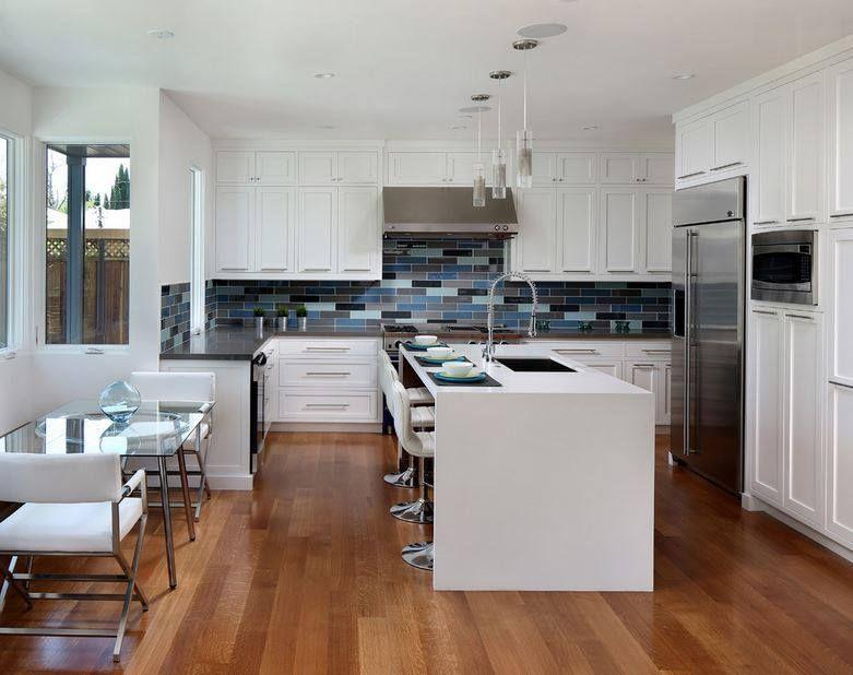 Ejemplos de cocinas elegantes, modernas y minimalistas blanco - cocinas elegantes