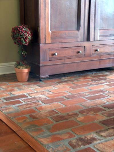 old brick flooring similar to the one on the screened-in porch ...