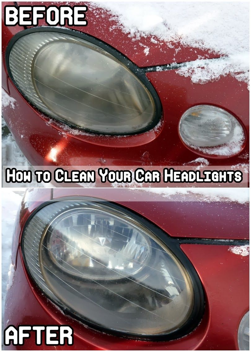 Diy Projects The Cheapest Way To Clean Your Car Headlights Car Headlights Clean Your Car How To Clean Headlights