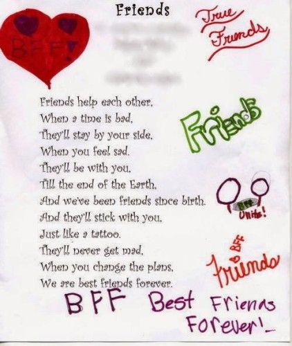 Message For Best Friend Images Poems Friends