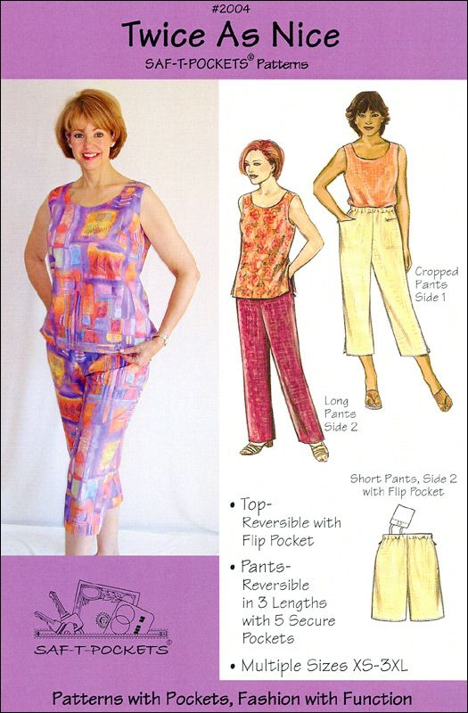 Twice As Nice 2004 Saf T Pockets Patterns Sewing Patterns