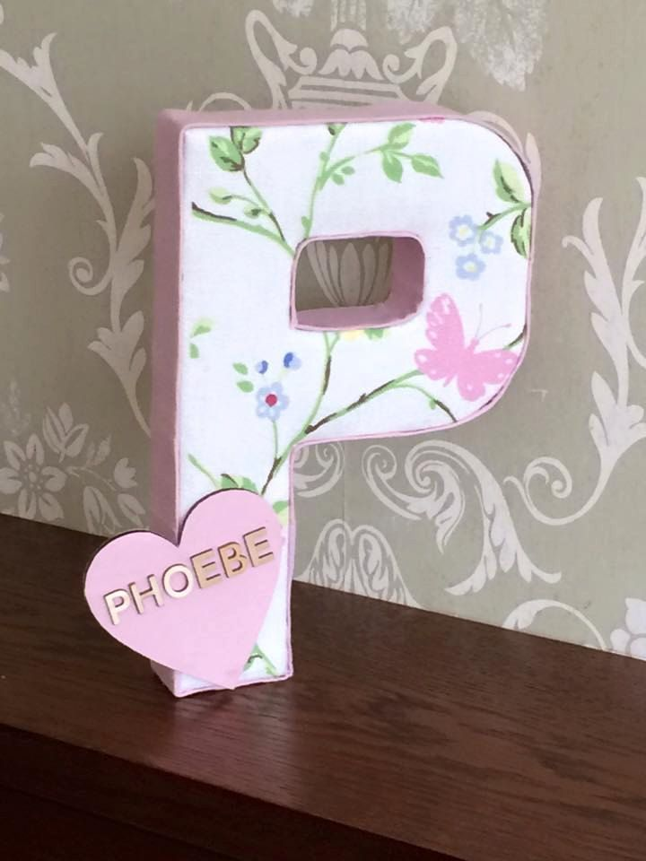 personalised fabric letters Nursery Christening Gift
