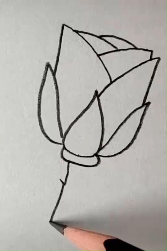 Easy flower drawing tutorial