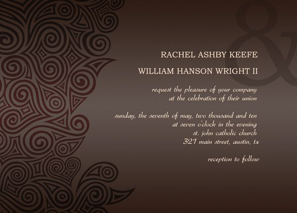 post wedding reception invitation templates | all things wedding ...