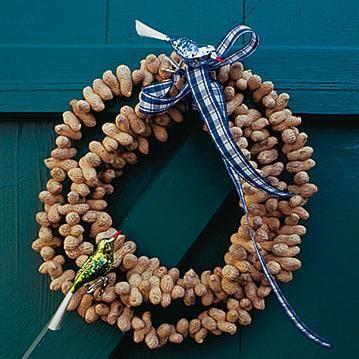 Herbstlicher Kranz aus Erdnüssen - Bild 8 #tischdekoherbstesstisch