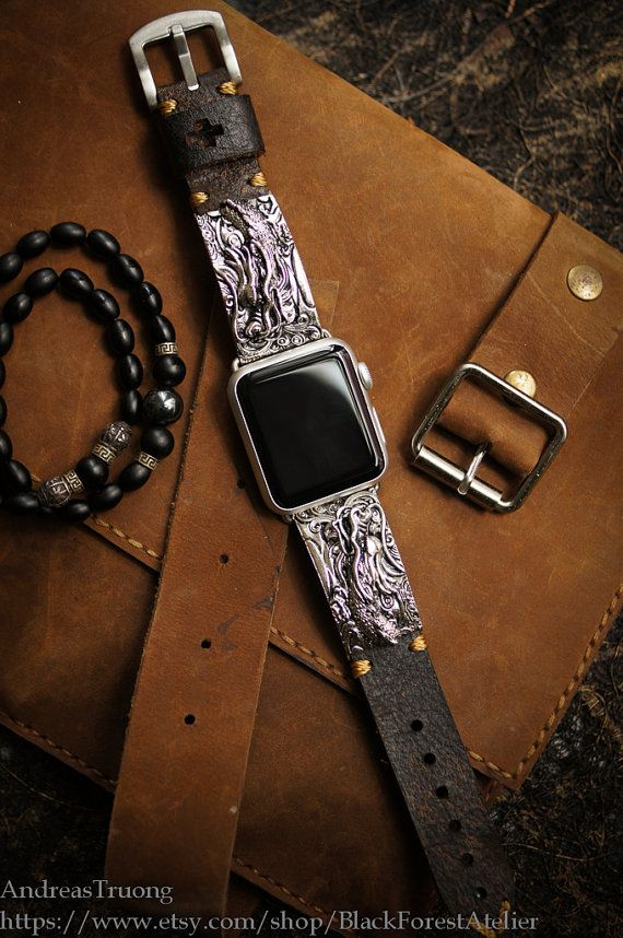Special Edition -DRAGON Silver Pendants incl. Lugs Adapter for Apple Watch (or Apple Watch Sport) 42mm/38mm  Material : Bronze Handmade