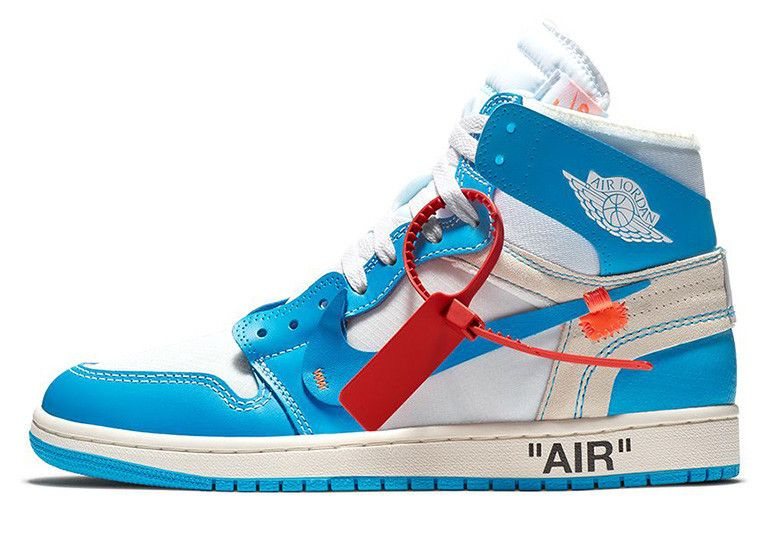 Off White X Air Jordan 1 Unc Nike Snkrs Air Jordans White
