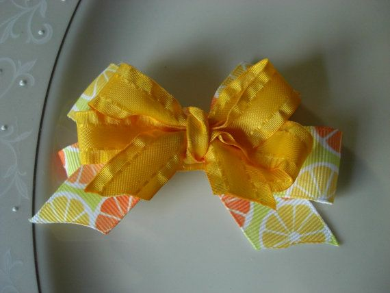 Sunny Summer Hair Clip by JacknLilAccessories on Etsy, $3.50