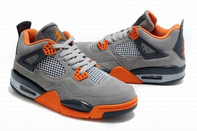 info for 44eb3 53b96 Cool Turn Fur Jordan 4 Light Grey-Orange-Black | Men ...