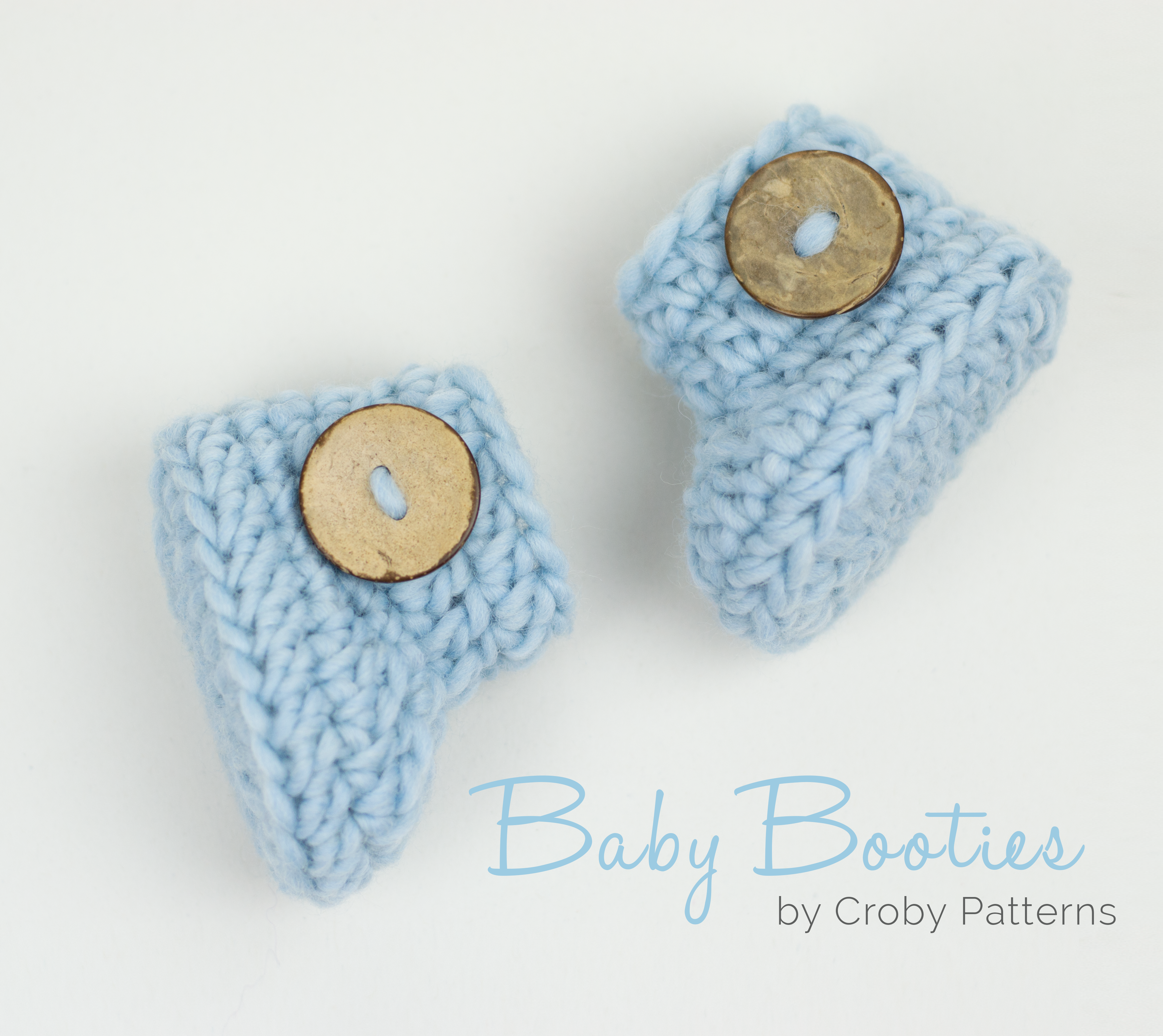 Croby Patterns | Crochet baby booties in 15 minutes or less ...