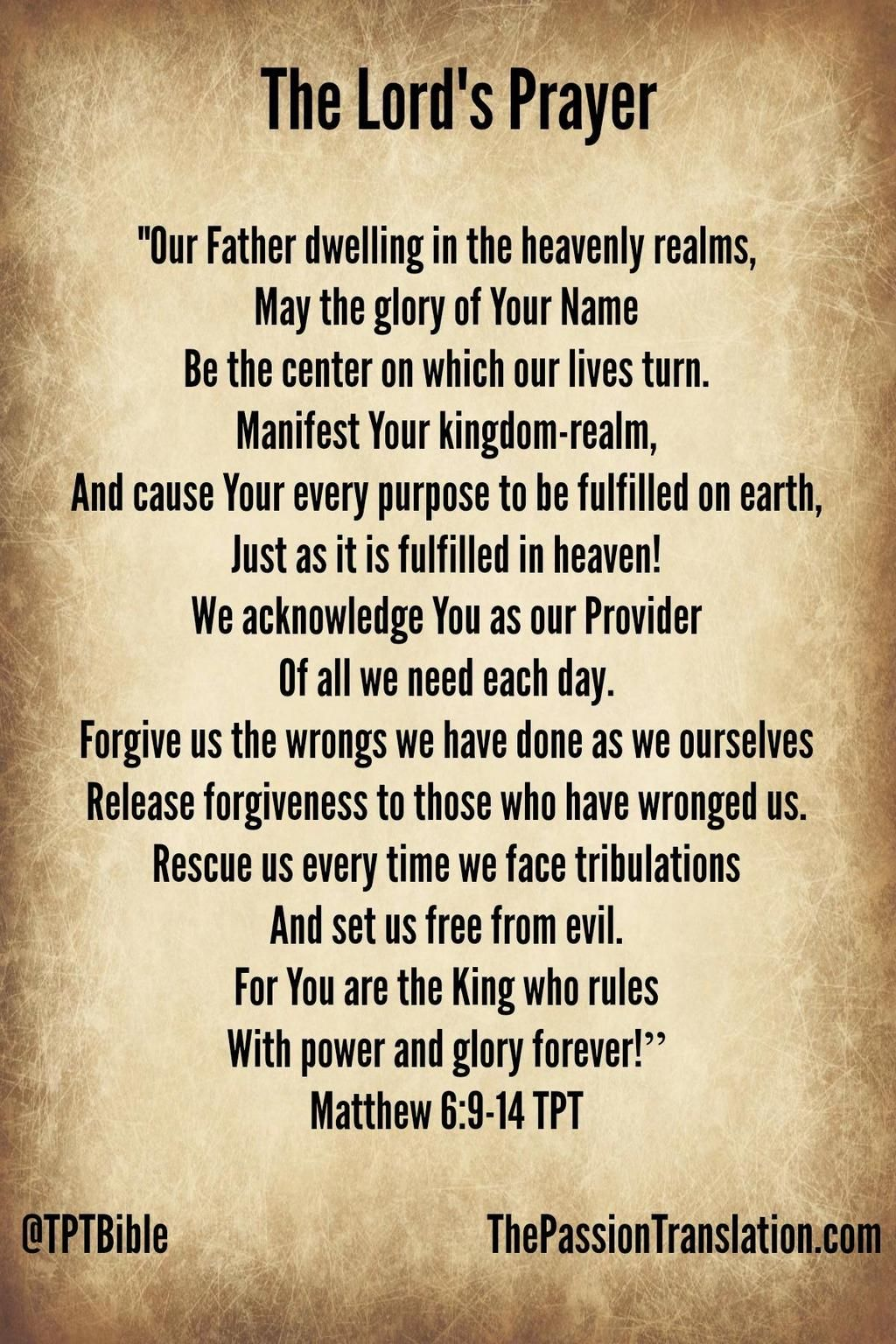 4dc555e2a383a The Lord's Prayer (via The Passion Translation) | Something special ...