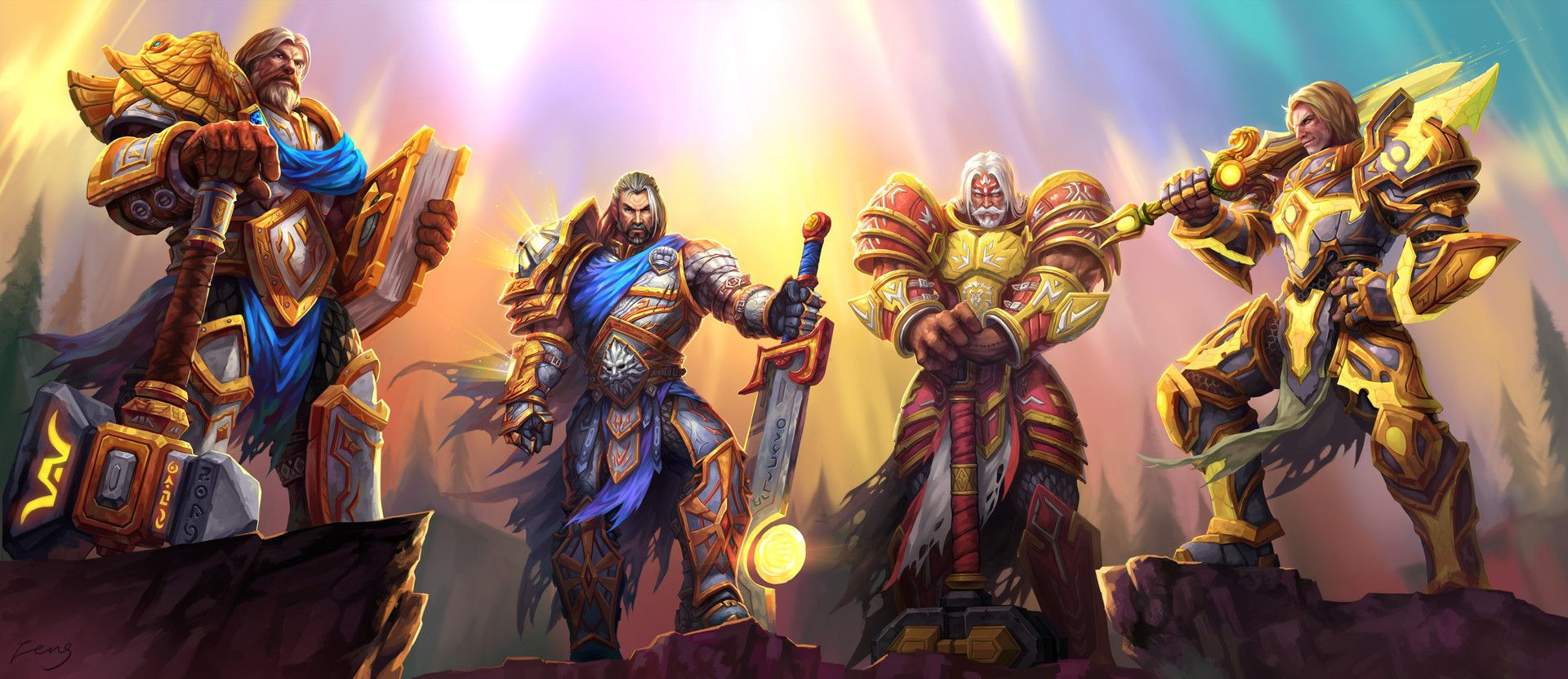 Knights Of The Silver Hand By Jiangfeng Feng Worldofwarcraft