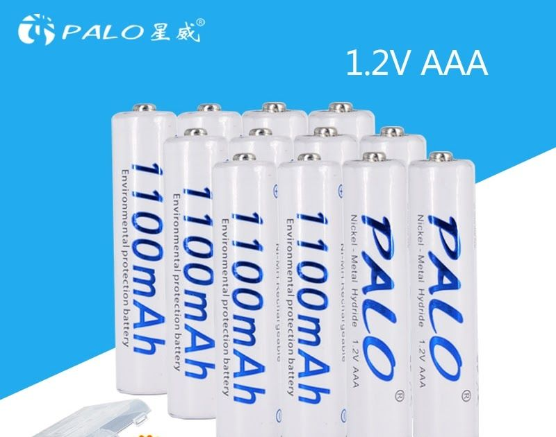 On Sale Palo Aaa Battery 12 Pcs 1100mah 1 2v Aaa Rechargeable Battery 3a Nimh Batteries For Camera Mp3 Mp4 Microph Printed Shower Curtain Shower Shower Curtain