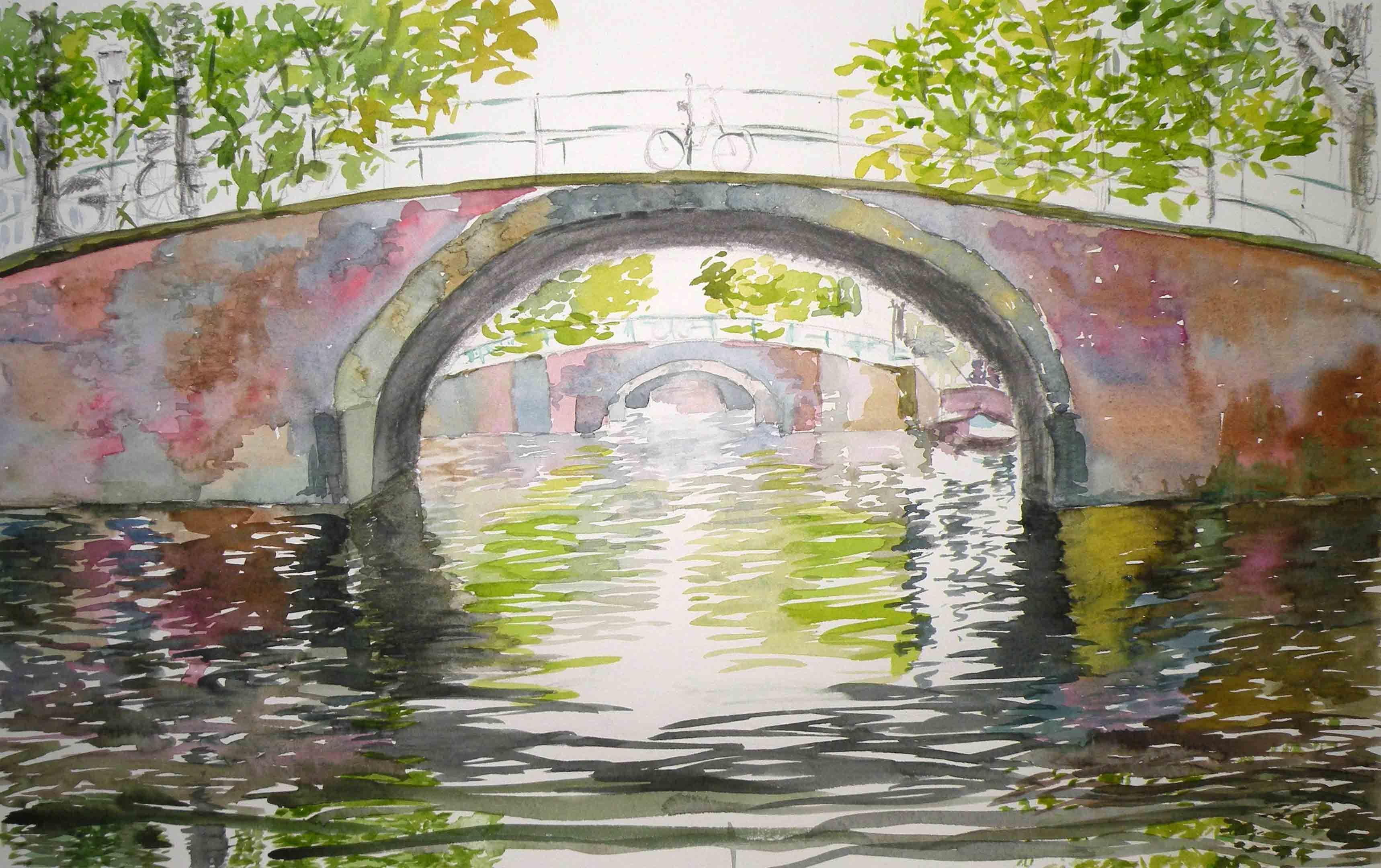 Un canal en Amsterdam. Por Charo Onieva