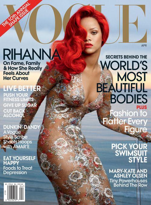 vogue magazine cover Rihanna