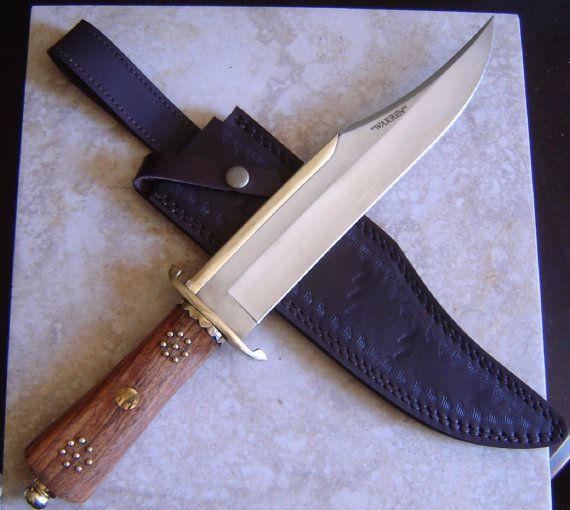 Warren Custom Hand Made Quot Iron Mistress Quot Bowie Knife 1095 Steel Walnut Handle Brass Guard And Skull Crusher Bowie Knife Knife Bowie