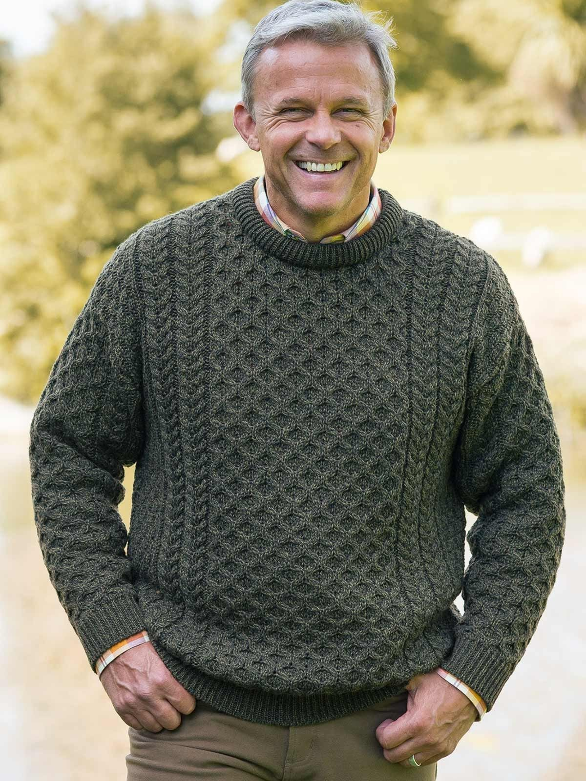 Green Aran Jumper - Crafted in Clonakilty, West Cork, this ...