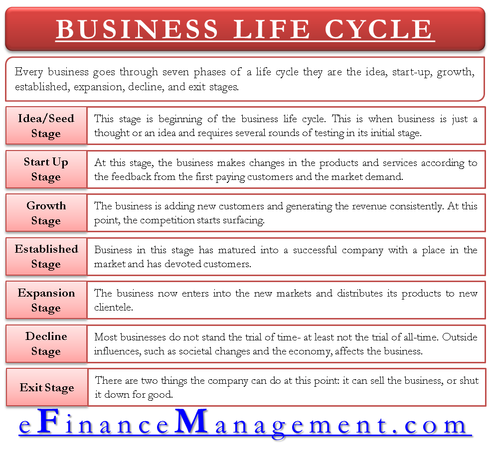 Business Life Cycle Accounting, finance, Life cycles