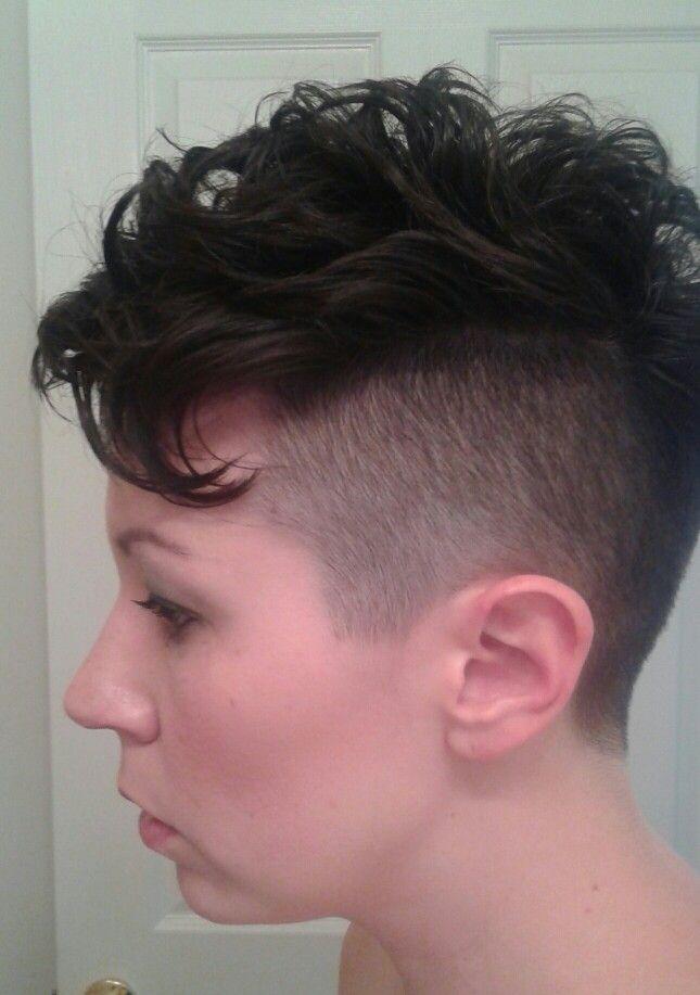 Women\u0027s mohawk, short hair, pixie, undercut,