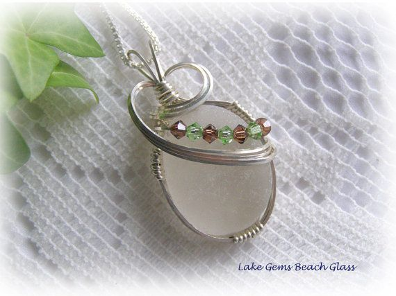 how to make wire wrapped sea glass pendants