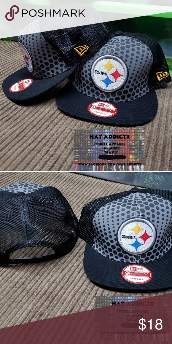 7a63fea95cf157 Pittsburgh Steelers New Era 9fifty snapback hat Brand new Pittsburgh  Steelers New Era 9fifty trucker style mesh snapback hat. NFL Accessories  Hats