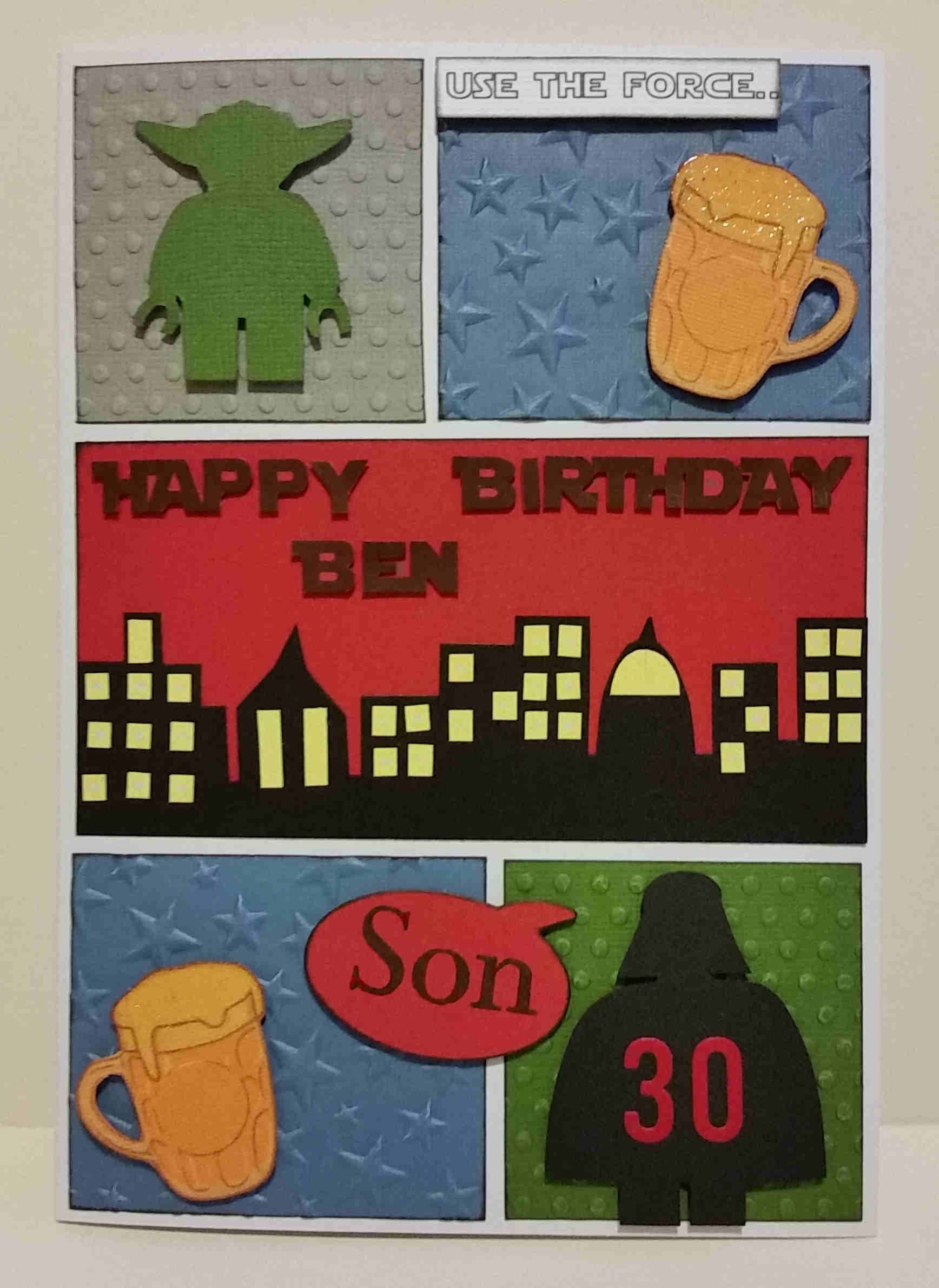 Personalised ic Book Style Birthday Card with Lego Star Wars