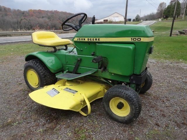John Deere Lawn Mowers For Sale >> Vintage John Deere 100 Lawn Garden Tractor W Mower Snow Plow