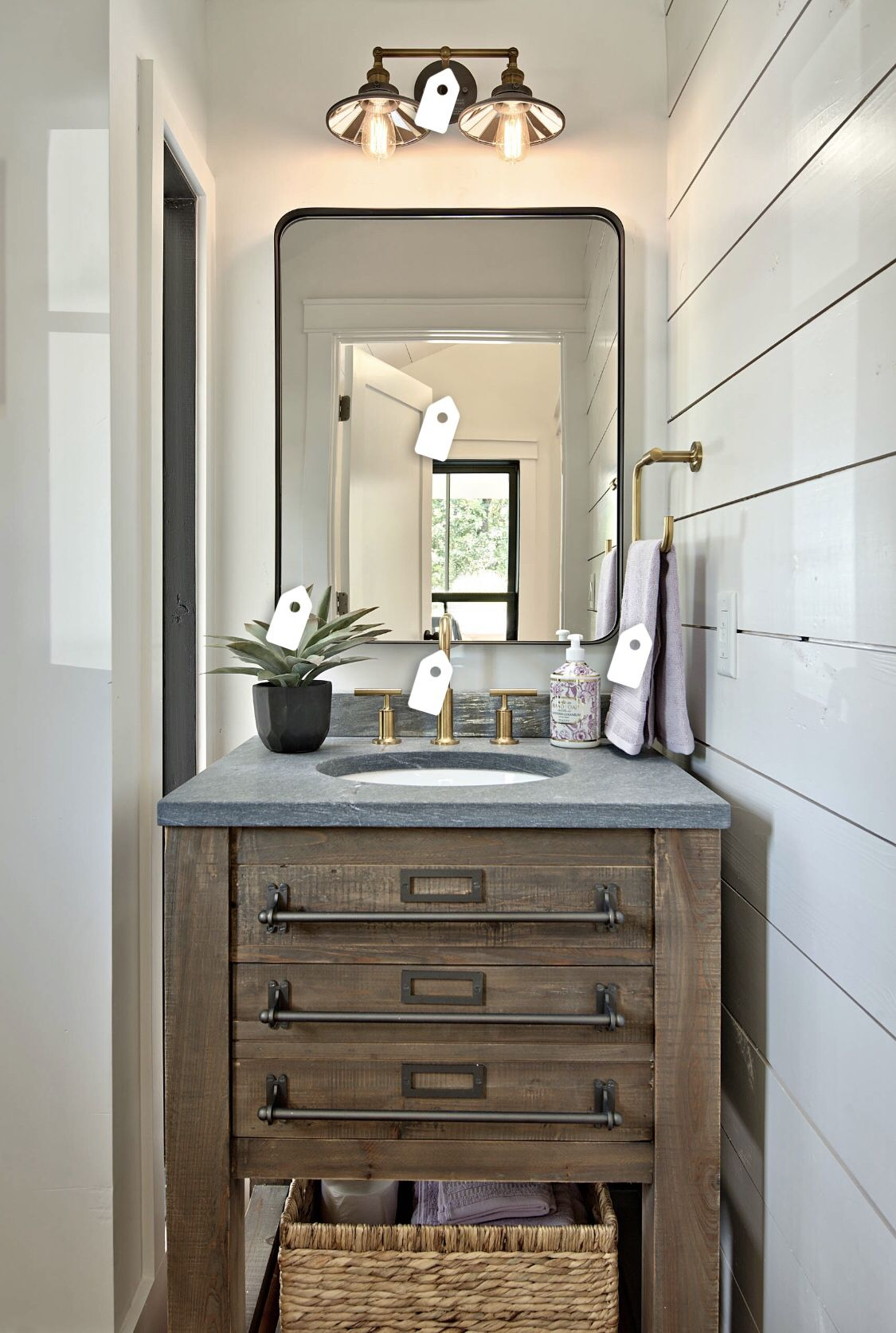 Love The Vanity Modern Farmhouse Powder Room Farmhouse