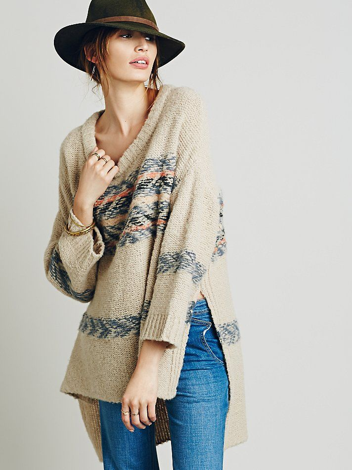 Free People Alpaca Fairisle Tunic Sweater at Free People Clothing ...