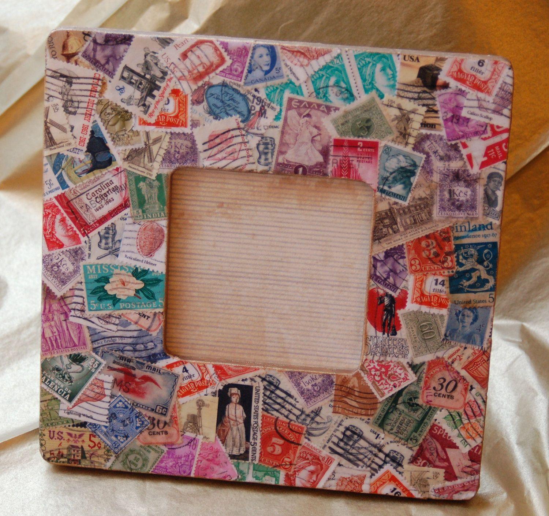 Decoupaged Frame. $32.00, via Etsy.