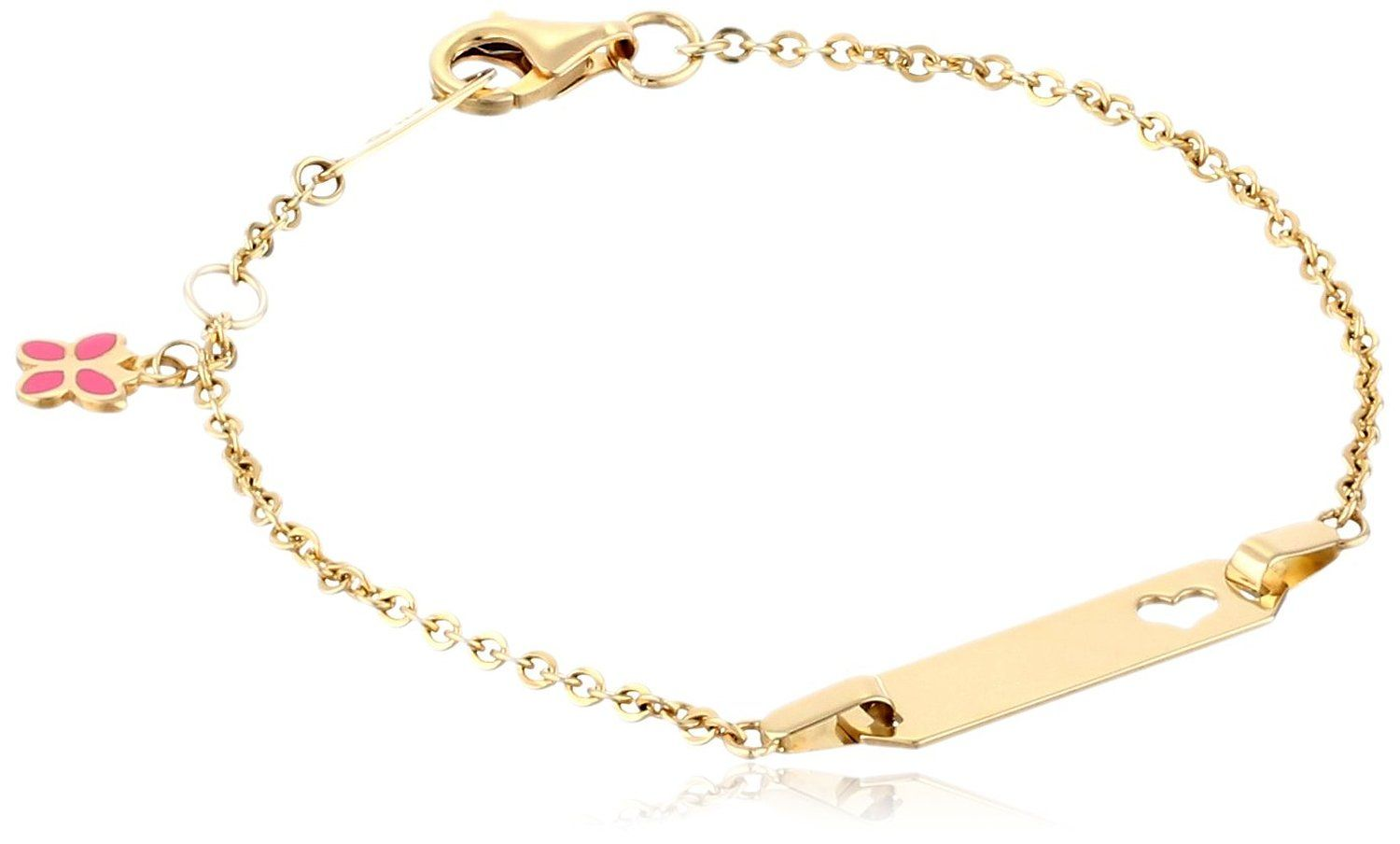 K yellow gold heart baby id rolo bracelet u check out