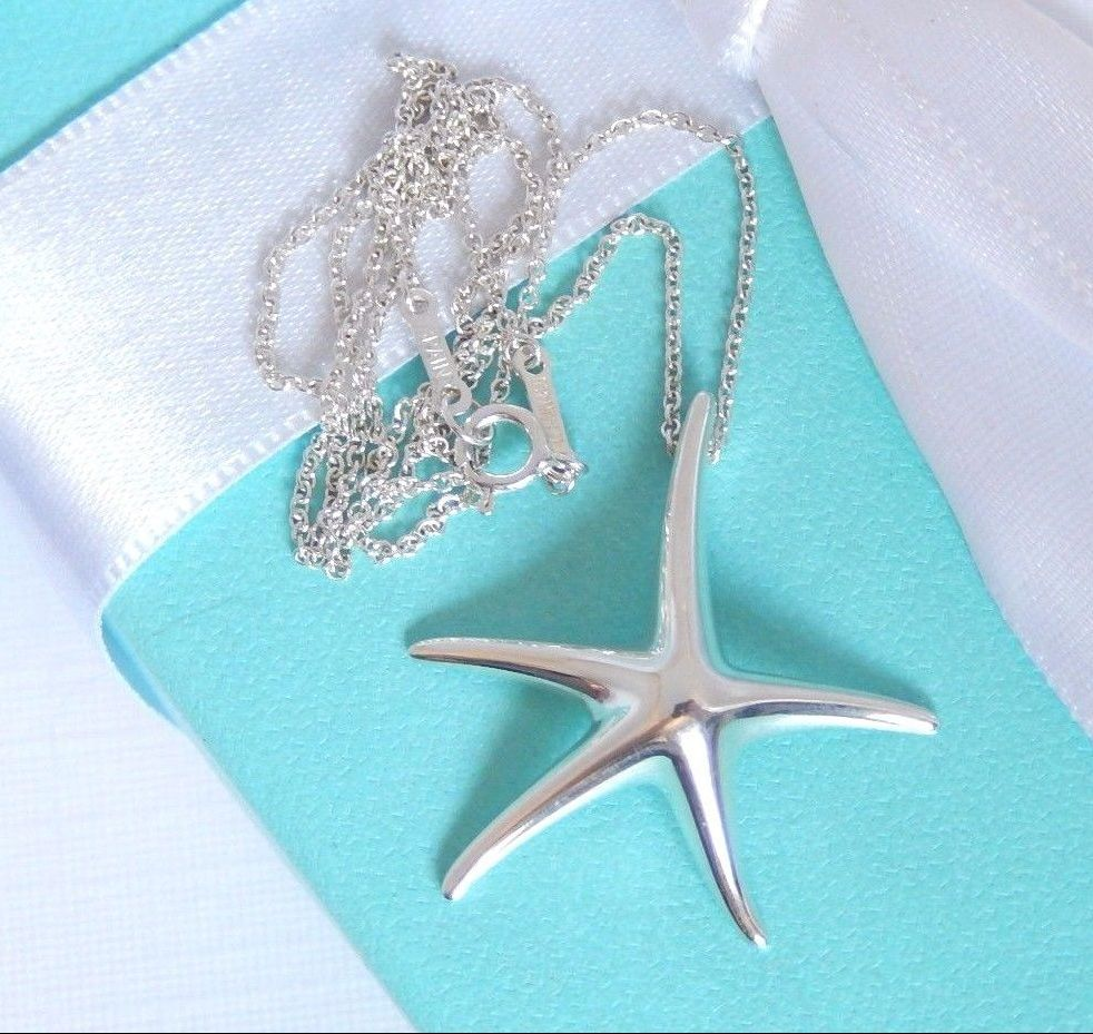 Tiffany and co starfish sterling silver necklace gift ideas for