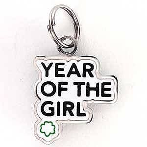 You'll always remember the Year of the Girl with this cute Girl Scout charm!