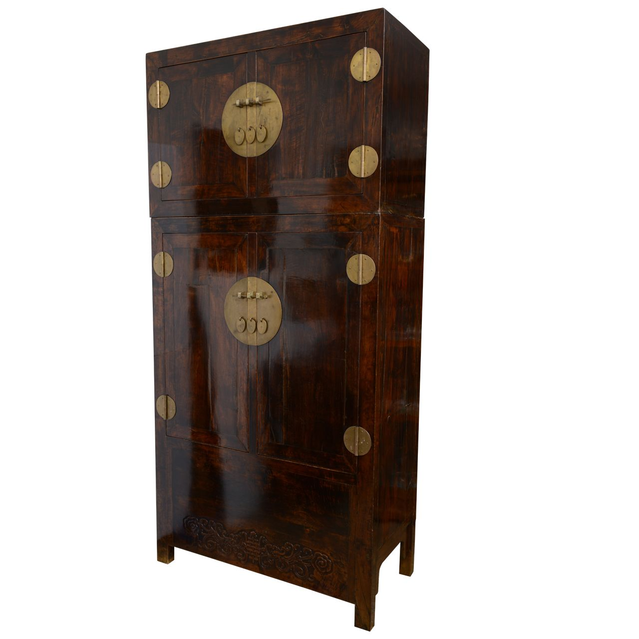 Chinese Armoire Storage Cabinet Wardrobe, 18th century | From a ...