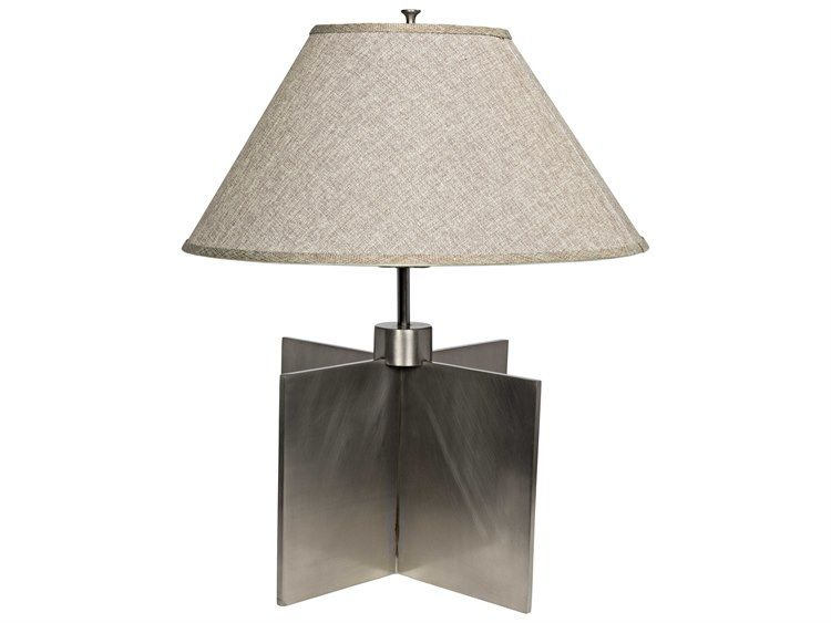 515 noir furniture architectural silver finish table lamp