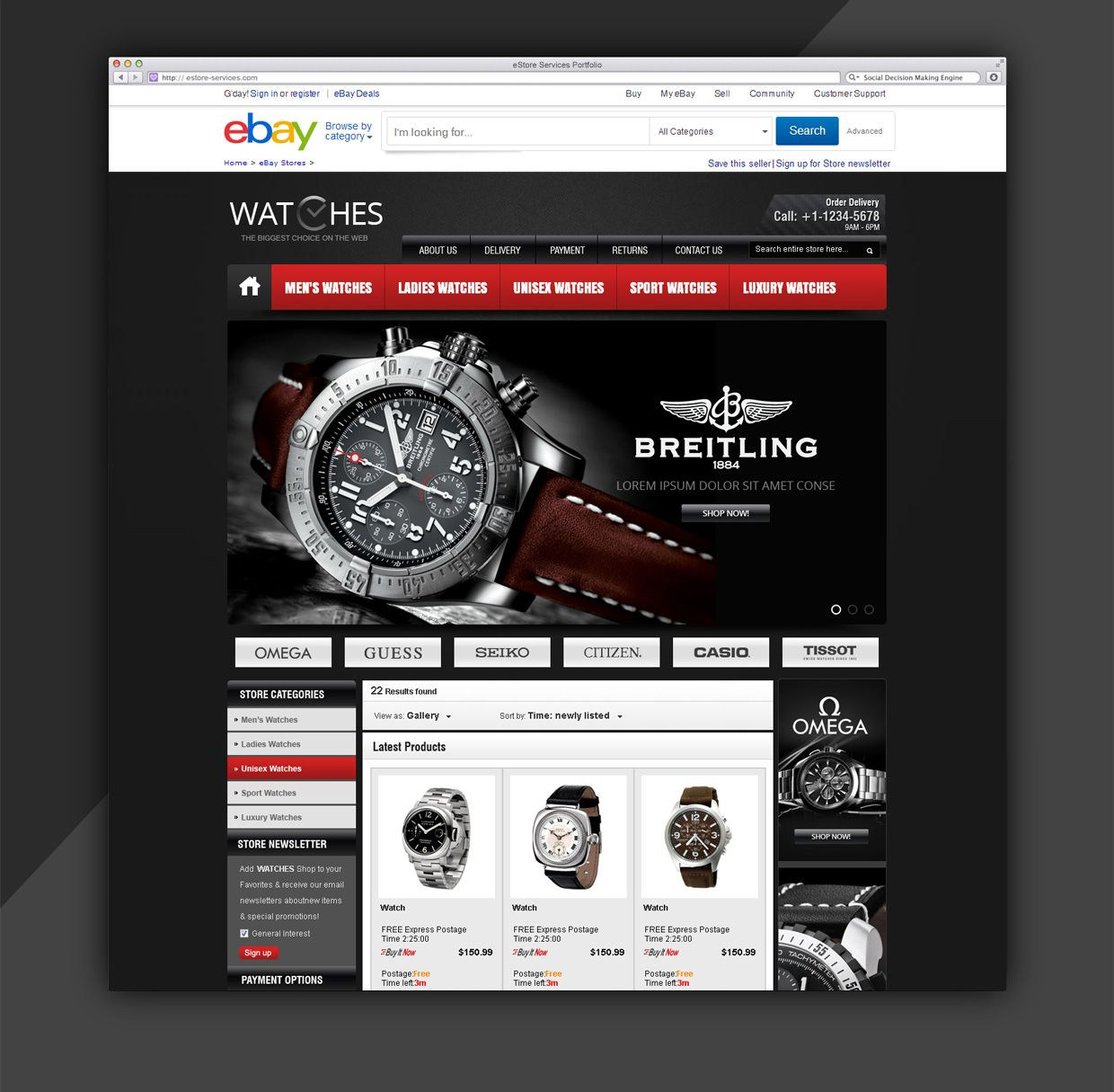 Classic ebay Storefront and Listing Template by eStore Services ...