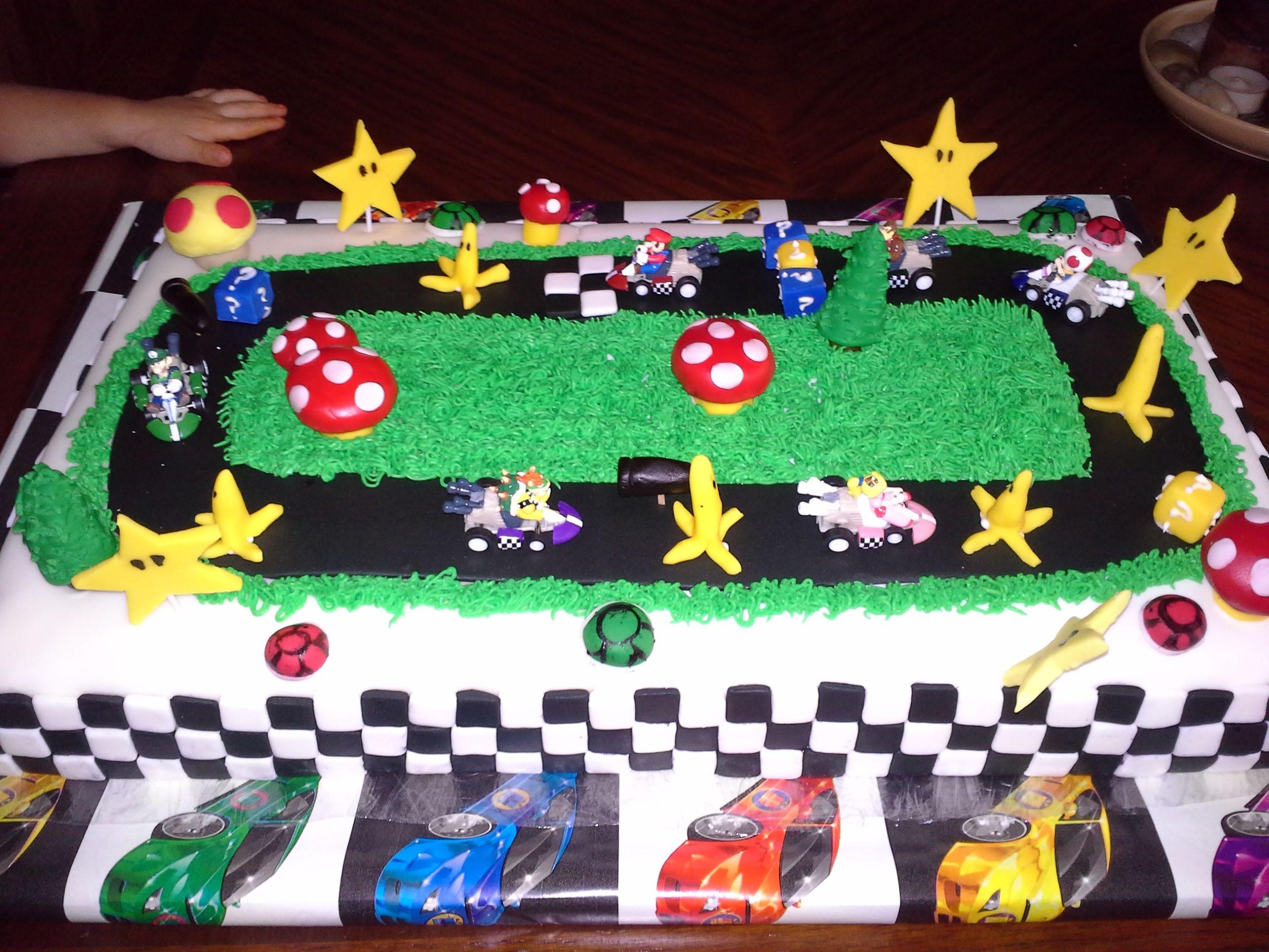 Super Mario Mario Kart Racing Mario Birthday Cake Mario Kart Cake Mario Bros Birthday
