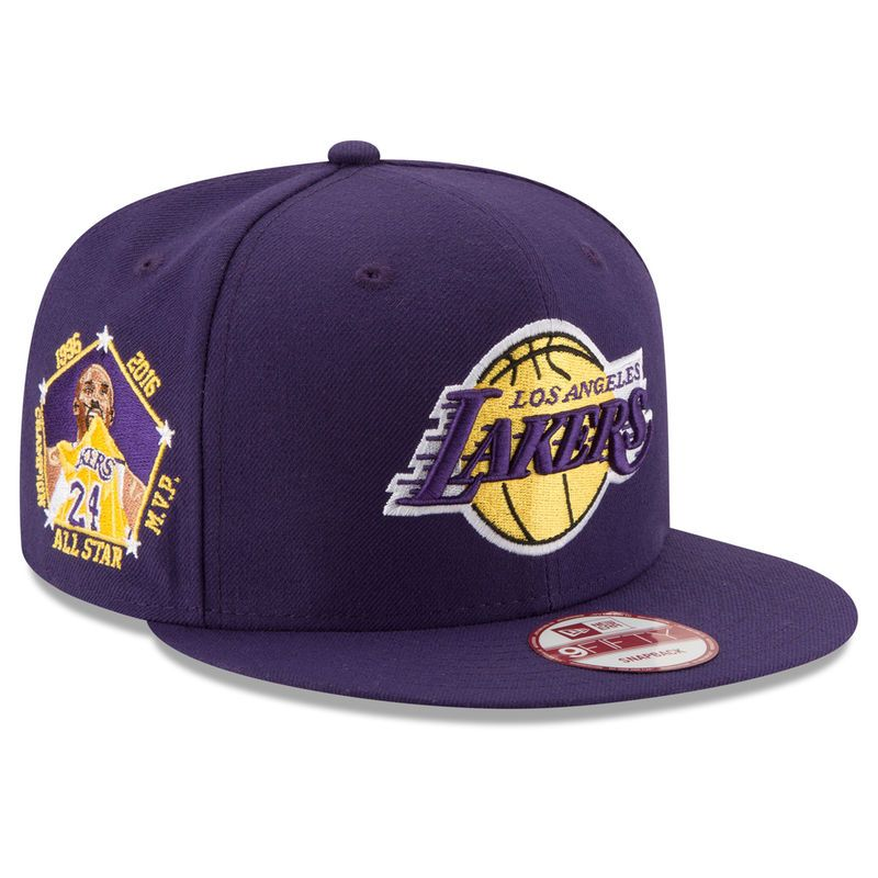 Adidas Los Angeles Lakers Hat Snapback Flat Cap Yellow Purple Lebron James NBA